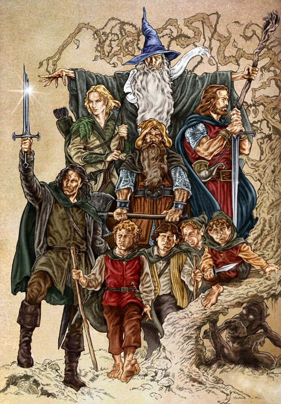 The Company Lotr Art Tolkien Tolkien Illustration