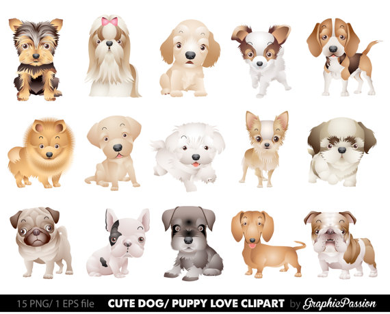 Dog Clipart Puppy Clipart Cute Dogs Clip Art Puppy Clipart Dog