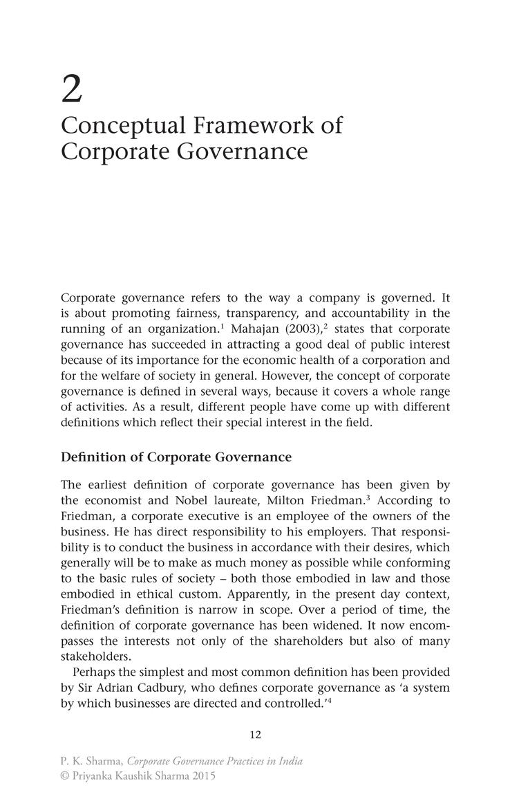 fc53435ec1a8b071e4e149dcf732f2e4 conceptual framework of corporate governance springer s