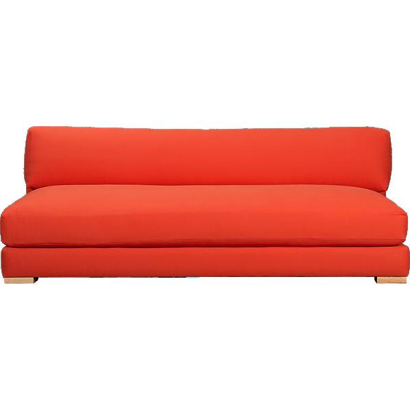 Piazza Persimmon Sofa Cb2 Red Sofa Modern Sofa