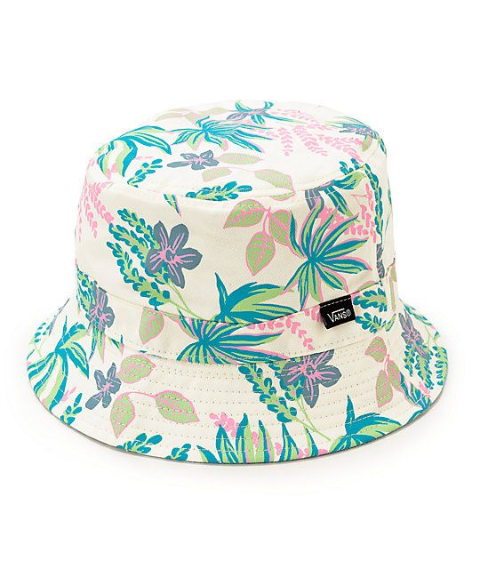 39c09f03e10 Vans Caytie Cream Floral Reversible Bucket Hat in 2019