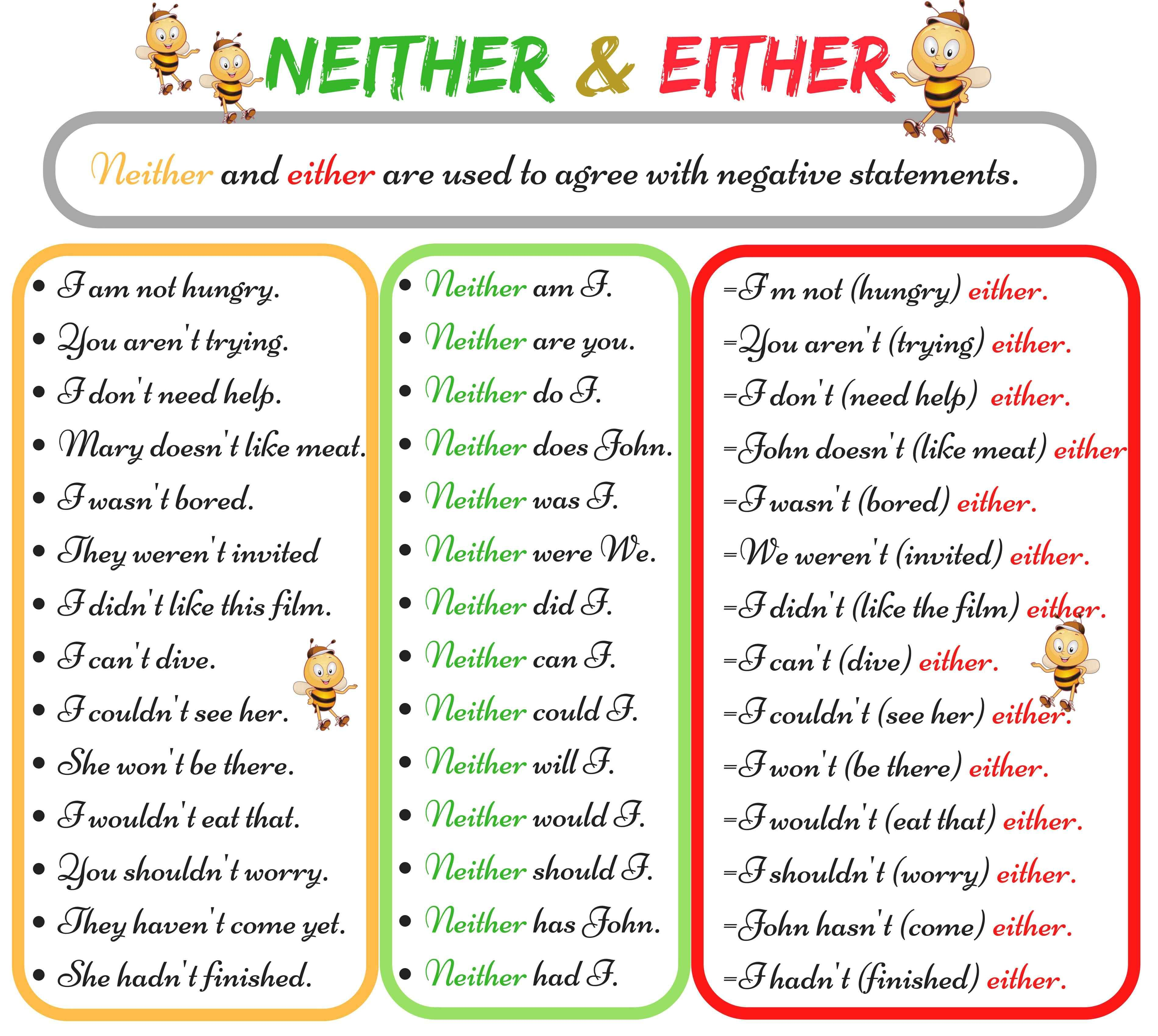 The Difference Between Neither And Either