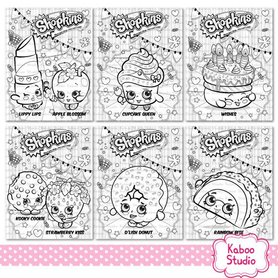 6 Shopkins Coloring Sheets Instant Download Pdf Birthday Party Coloring Activity Sheets Pa Shopkins Party Colorful Birthday Party Shopkins Birthday Party
