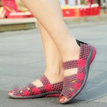 2016 Nowy Lato Kobiety Plaskie Sandaly Buty Kobiet Tkane Buty Plaskie Sandaly Buty Klapki Japonki Kobiety Wielu Ko Womens Sandals Wholesale Sandals Women Shoes