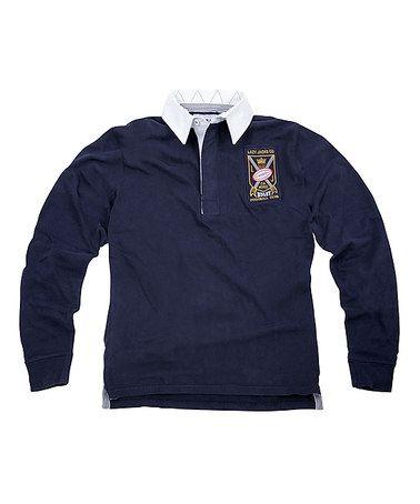 Lazy Jacks: Navy Long-Sleeve Rugby Shirt by Lazy Jacks on #zulily