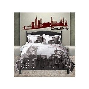 New york bedroom 2 hotel pinterest modern for New york style curtains