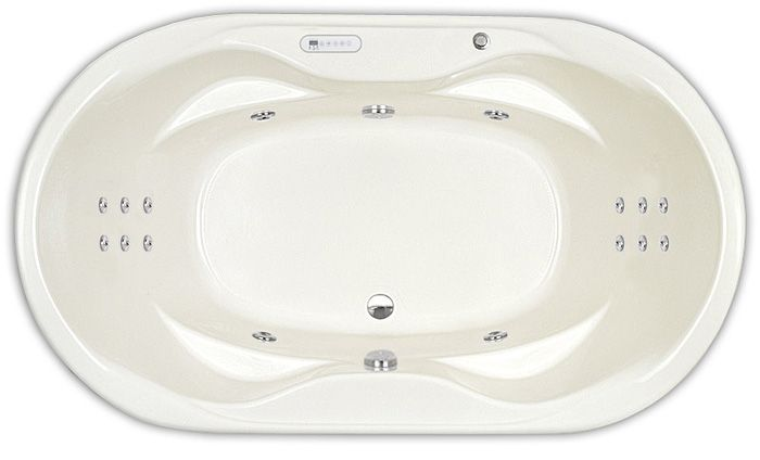 "Master Bath: Indulgence Ultra Therapy Whirlpool 41"" x 70"""