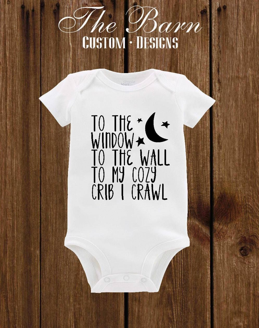 b3921bb7e Baby onesie To the window to the wall music rap funny onesie Baby Boy Baby  girl