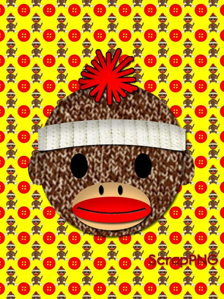Sock Monkey New Years Ipad Background It S Free Scrappng Digital Craft Graphics Sock Monkey Crafts Pattern Wallpaper