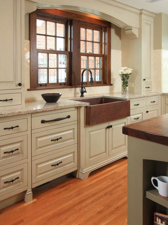 Sink Kitchen Cabinets Foldable Cart Copper Angela Oden I Think Want Something Like This In My