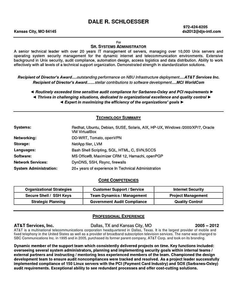 System Administrator Resume Includes A Snapshot Of The Skills Both Technical And Nontechnica System Administrator Free Resume Template Word Free Resume Samples