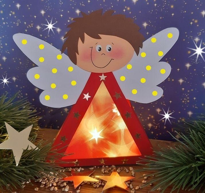 Engel mit Beleuchtung – Eine Idee aus dem Blog der Buntpapierwelt.de