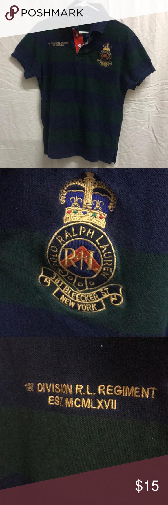 f389c17f0c5e7 Vintage Ralph Lauren Polo Regiment Shirt Size L In good shape Polo by Ralph  Lauren Shirts Polos