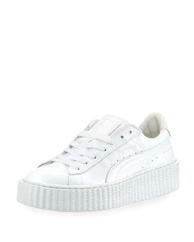 separation shoes b9c0d 34cb1 S0G9P FENTY PUMA by Rihanna Basket Patent Creeper, White ...