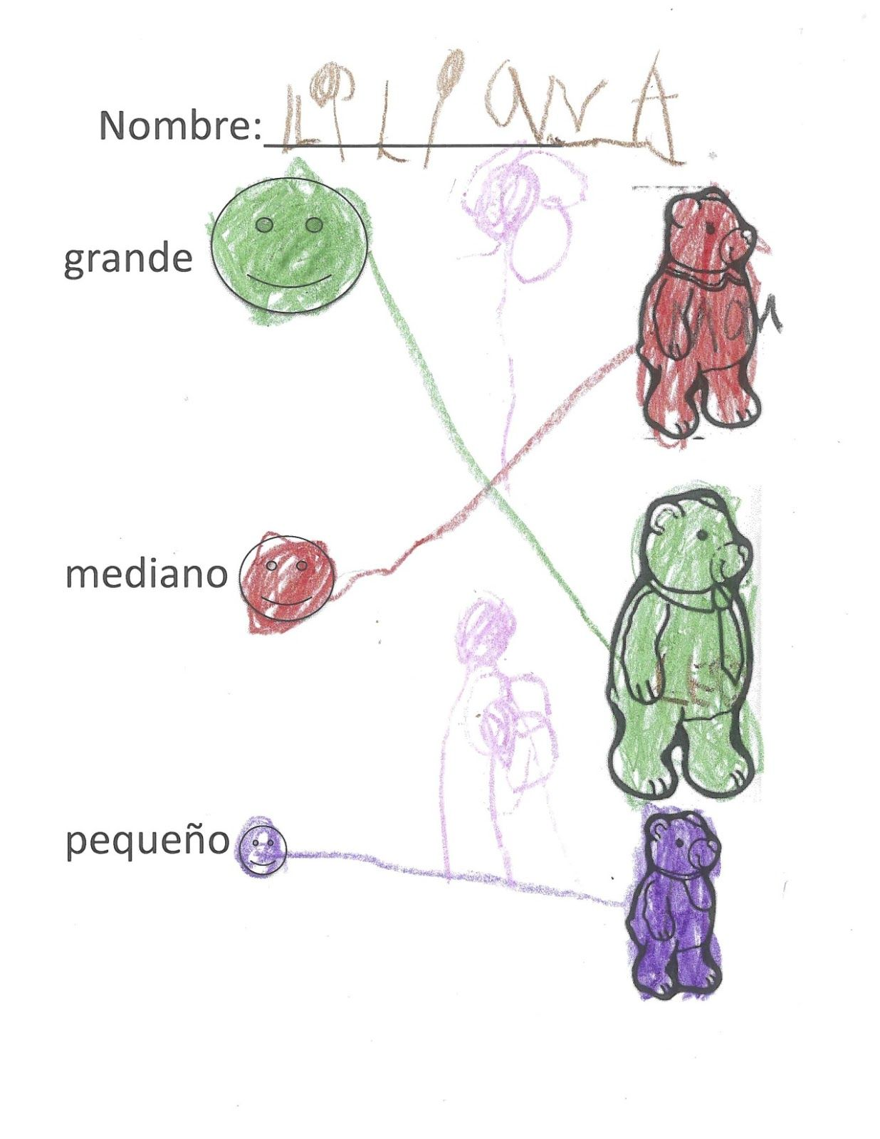 Goldilocks And The Three Bears In Spanish Worksheets And