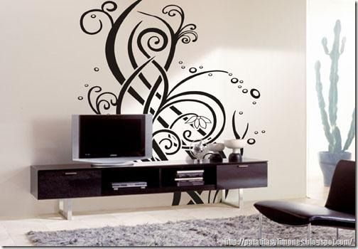 Descarga plantillas para decorar paredes como vinilos - Decoracion de interiores pinturas paredes ...