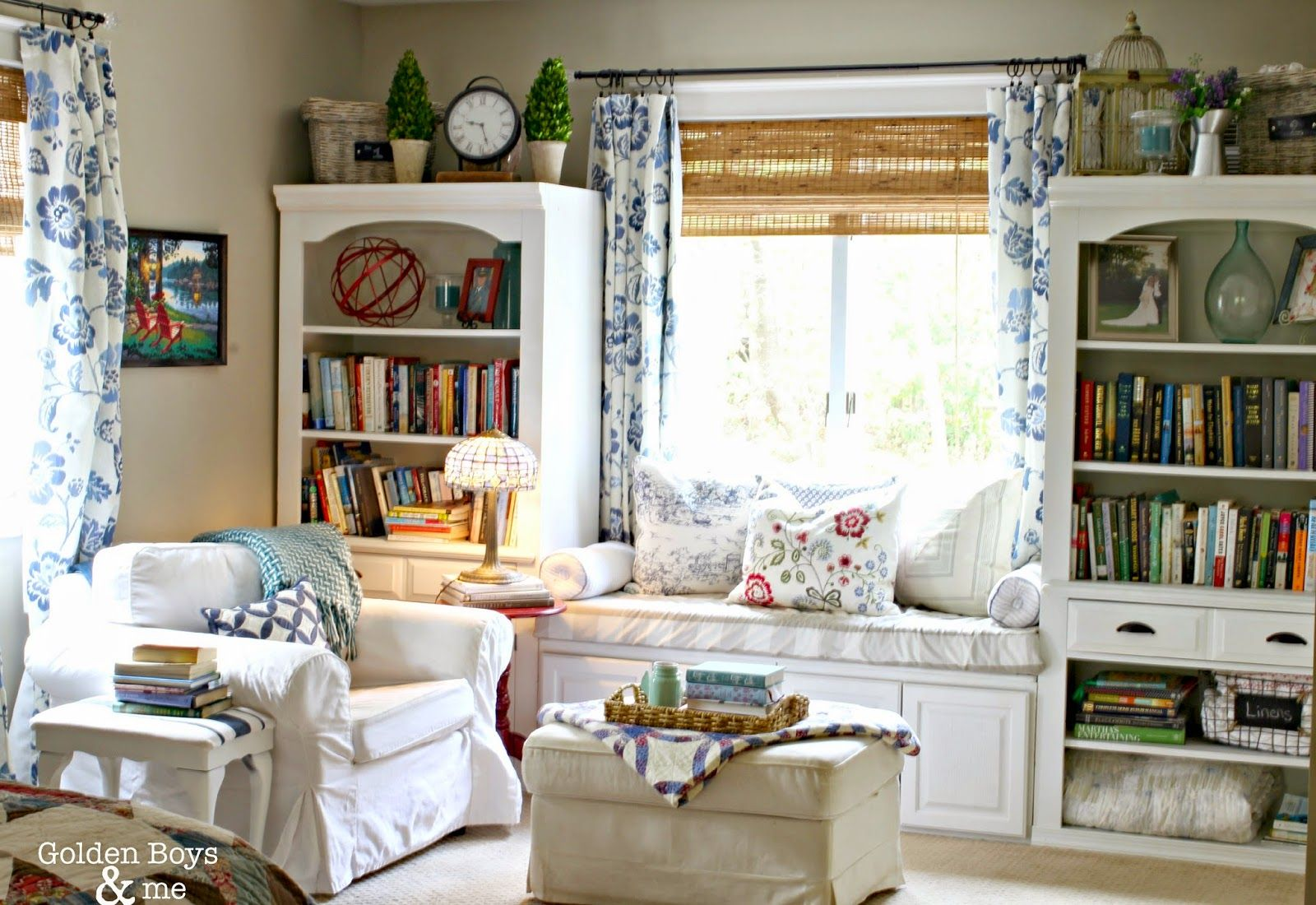 Our Master Bedroom Window Seat is part of bedroom Window Bench - Window seat on master bedroom created from upper cabinets and repurposed wall init