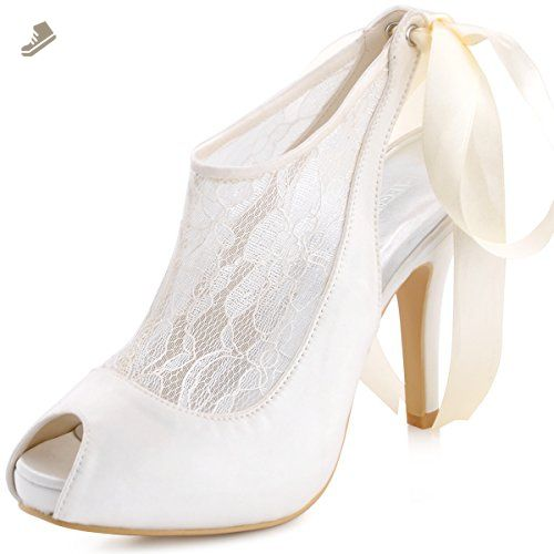f13854a1e7 ElegantPark HP1525I Women Satin Slingbacks Pumps Wedding Bridal ...