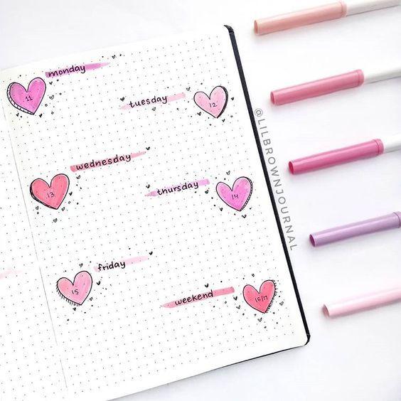15 Lovely February Bullet Journal Ideas in 2020! - Bullet Planner Ideas