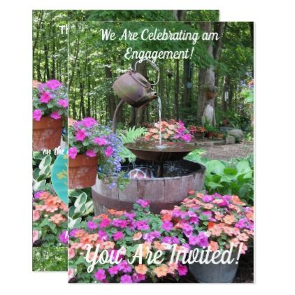 Garden engagement party invitation | Engagement party invitations ...
