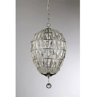 Warehouse Of Tiffany Globe Crystal 1 Light Chrome Chandelier With Shade Rl13841 The Home Depot Chrome Chandeliers Warehouse Of Tiffany Chandelier Shades
