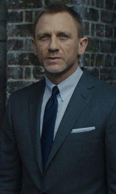 James Bond Skyfall Glen Plaid Suit Blue Shirt Skyfall Tie