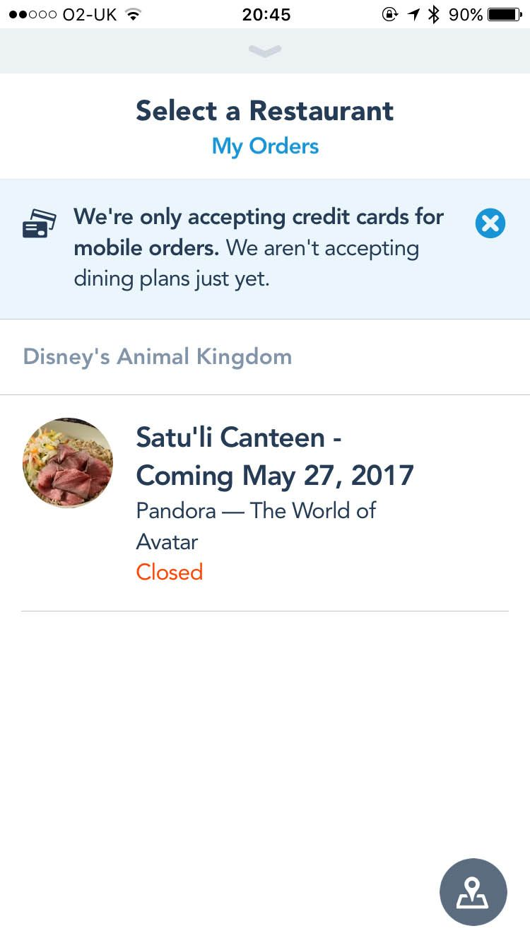 My Disney Experience App Update To Allow Mobile Restaurant