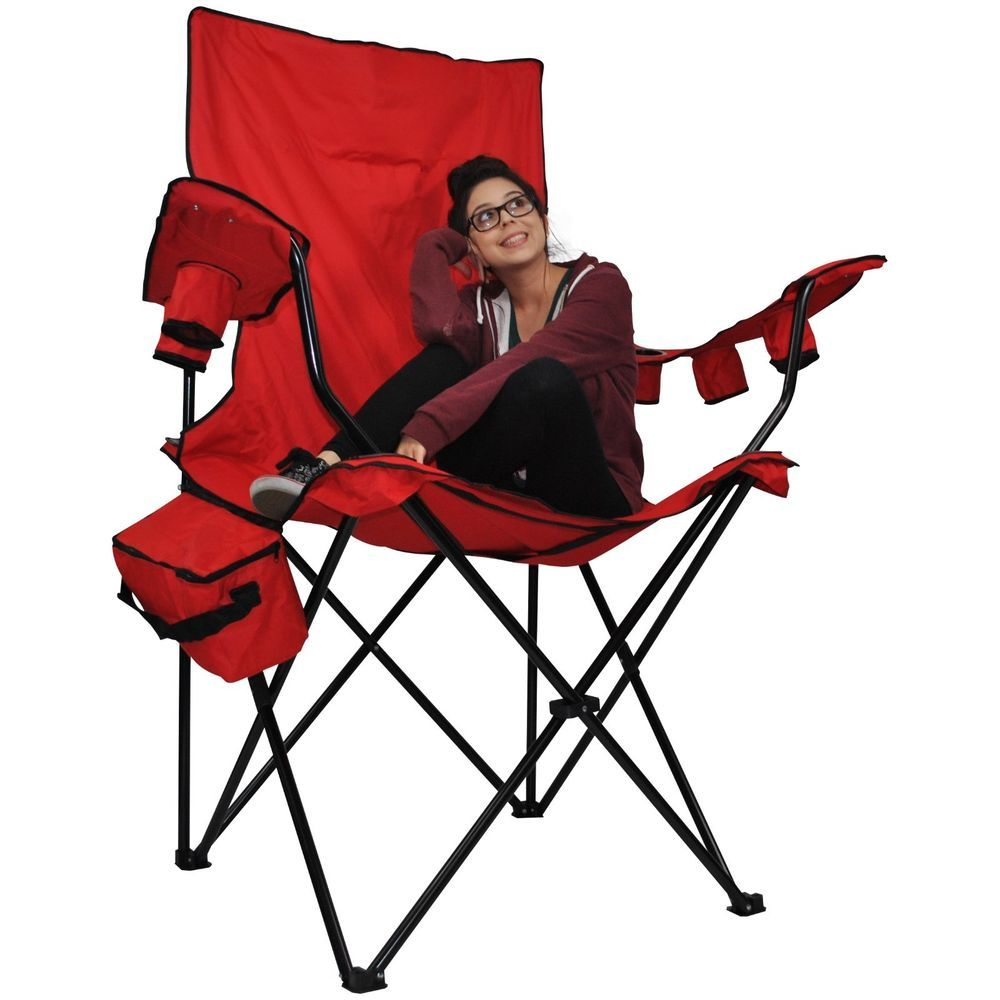 Kingpin Giant Sport Chair Portable Folding Camping Tail Gate Chair