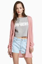 Fine-knit cardigan - Pink - Ladies | H&M GB 1 8.99