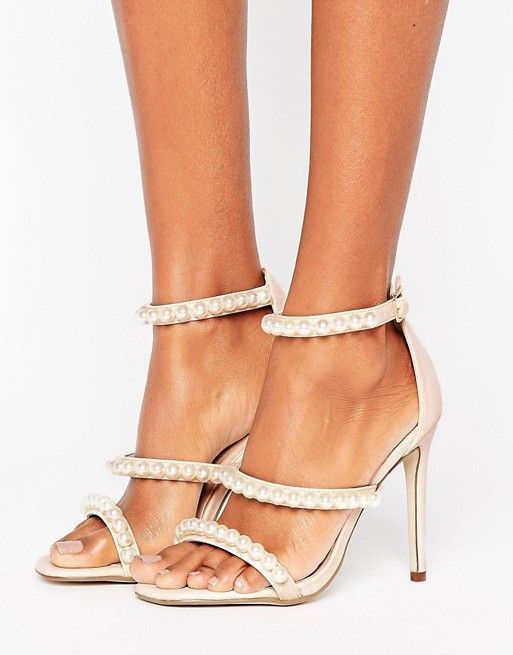 9407a6b85e Missguided Pearl Strap Barley There Heeled Sandal in 2019   fashion ...