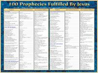 100 prophecies fulfilled by jesus wall chart laminated books