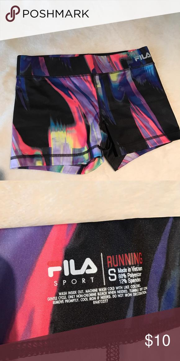 24551edc61d Fila Running Shorts - Paint Pattern Fila Running Shorts. Size small. NWOT. Fila  Shorts