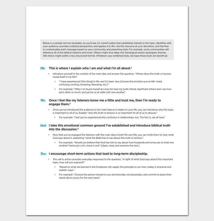 Sermon Outline Template In Pdf  Outline Templates  Create A