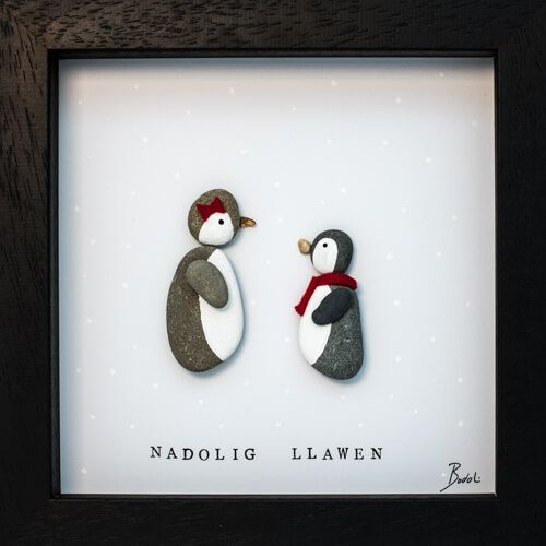 Penguin Pebble Art Frame in 2018 | Pebble art | Pinterest | Pebble ...