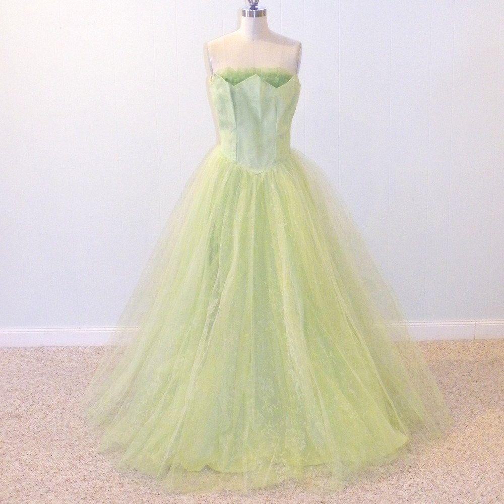 1950s 60s Prom Dress Spearmint Vintage 50s Strapless Formal Etsy 60s Prom Dress Prom Dresses Dresses [ 1000 x 1000 Pixel ]