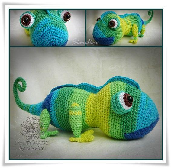 Háčkovaný chameleon 2   хамелеон амигуруми   Pinterest   Häkeln ...