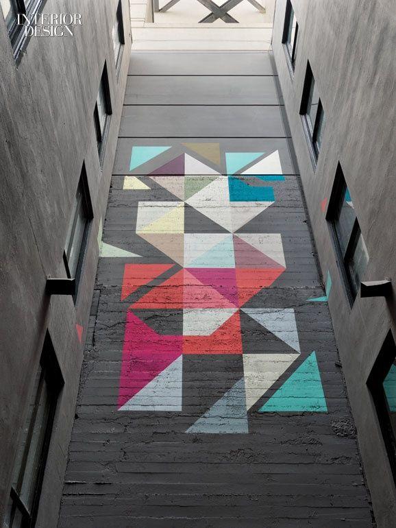 Геометрический дизайн плиточных полов