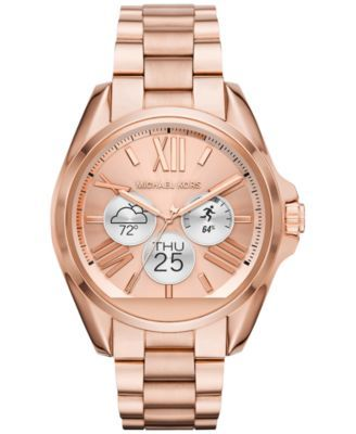 f13c2ce7c888 Michael Kors Access Unisex Digital Bradshaw Rose Gold-Tone Stainless Steel  Bracelet Smart Watch 45mm MKT5004 - Gold