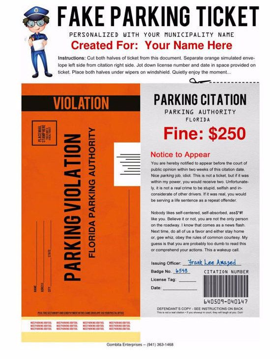 41 Genius April Foolsu0027 Day Pranks Your Kids Will Totally Fall For - fake ticket template