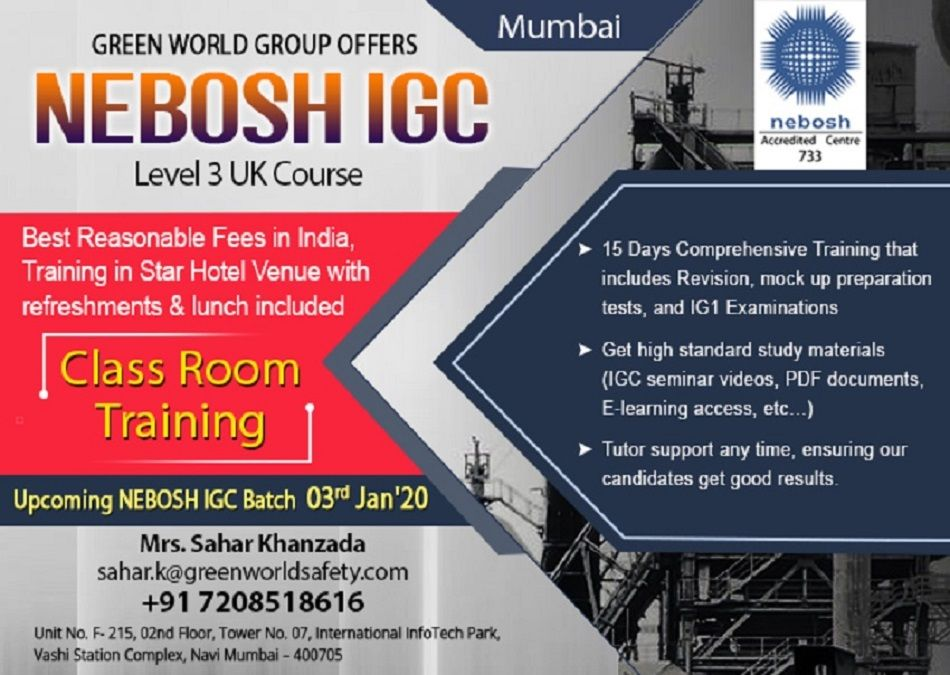 NEBOSH Course in Mumbai Occupational health and safety