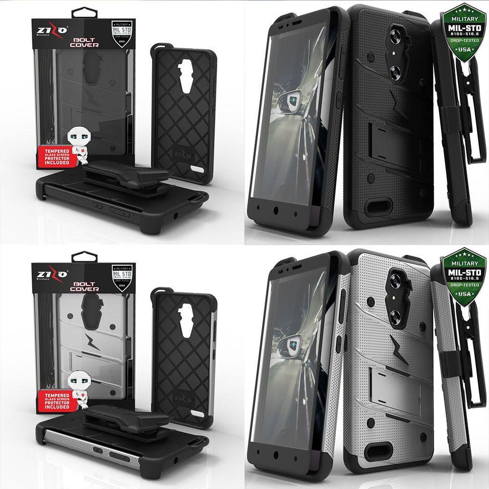 ZIZO Bolt Case Military Grade Kickstand Holster Clip for ZTE Samsung LG Alcatel #Zizo