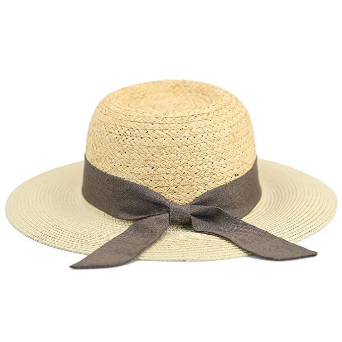 12f99dadd723c Women Wide Brim Straw Panama Roll up Hat Fedora Beach Sun Hat Review ...