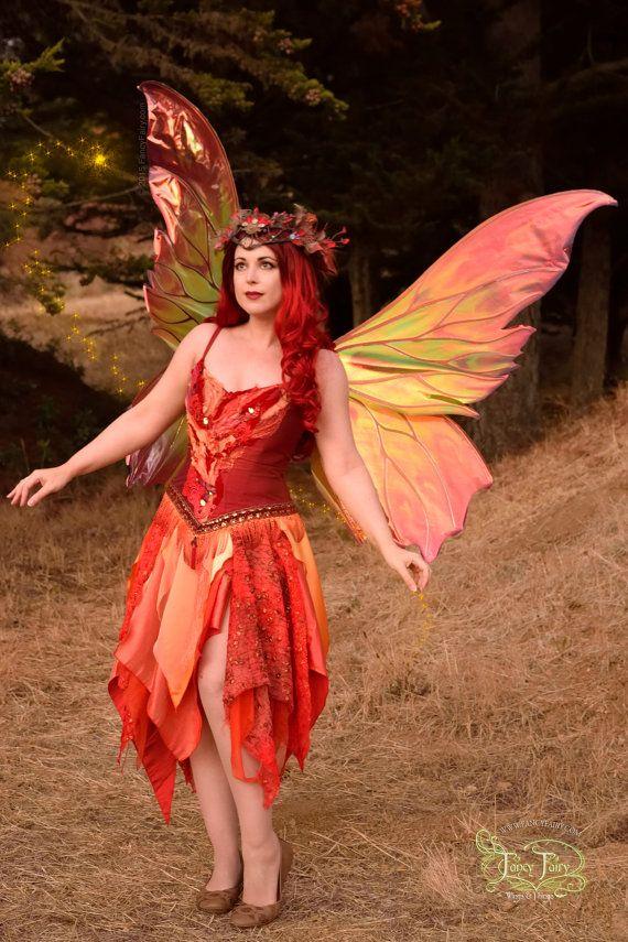 Wie ein Phönix die Clarion-Feuer-Fee-Wings steigen! Wie mit allen meinen Flügeln, diese Fee Flügel, mit einem sehr leichten Schnitt und Pulver (in