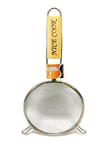 5 Diameter Fine Mesh Kitchen Strainer Sieve with Wooden Handle ** Check out the image by visiting the link.