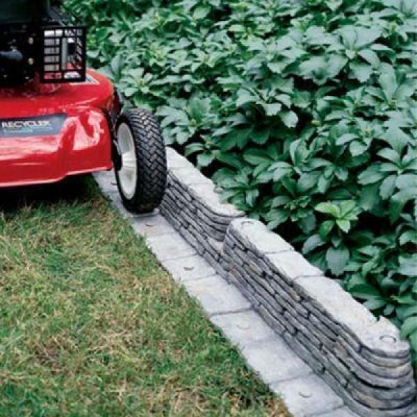 Bedrocks TrimFree Resin Slate Lawn Edging, Gray