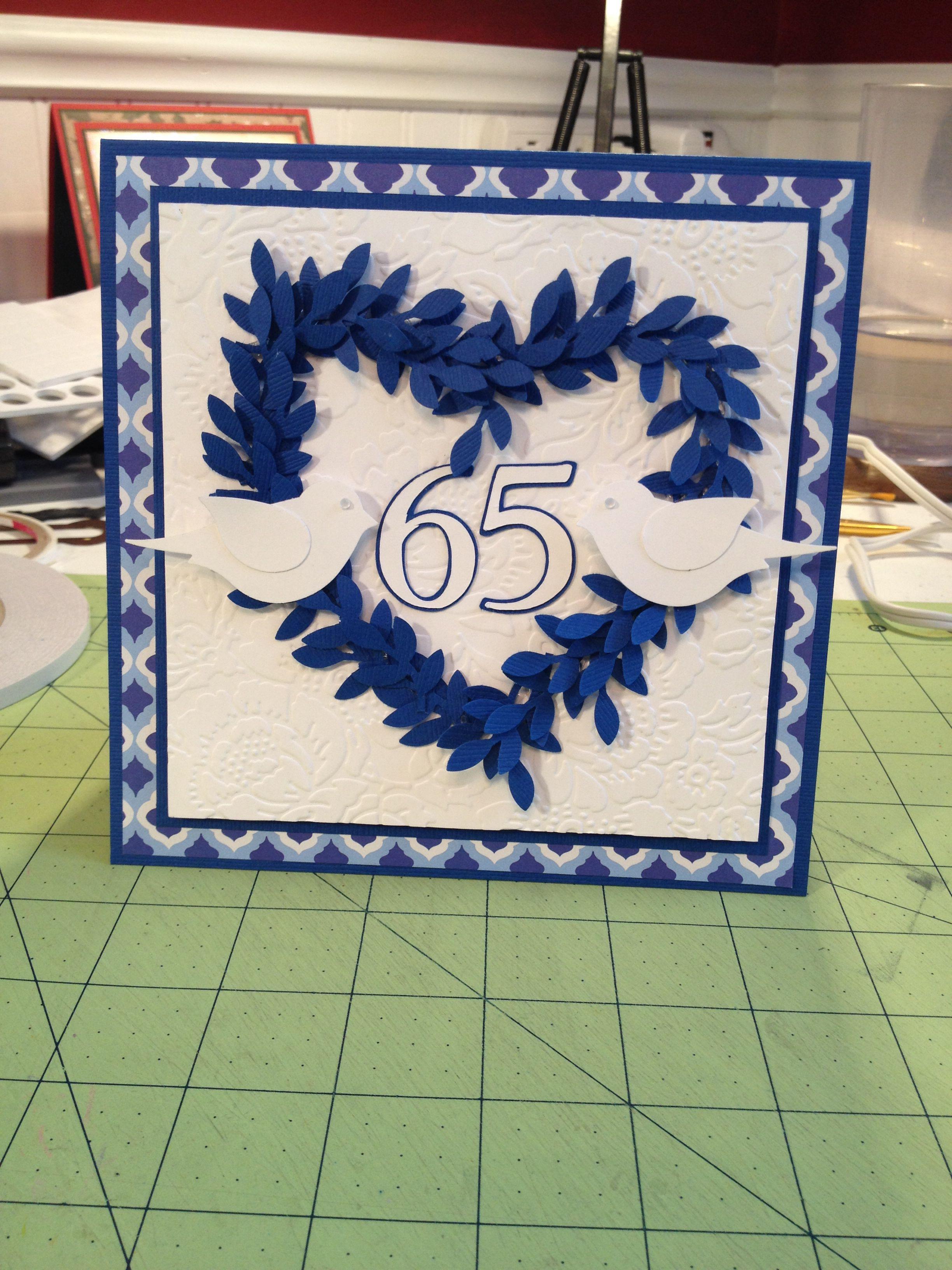 Handmade 65th wedding anniversary card Wedding
