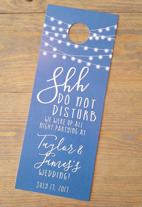 Do Not Disturb String Of Lights Wedding Door Hanger Used As Hotel