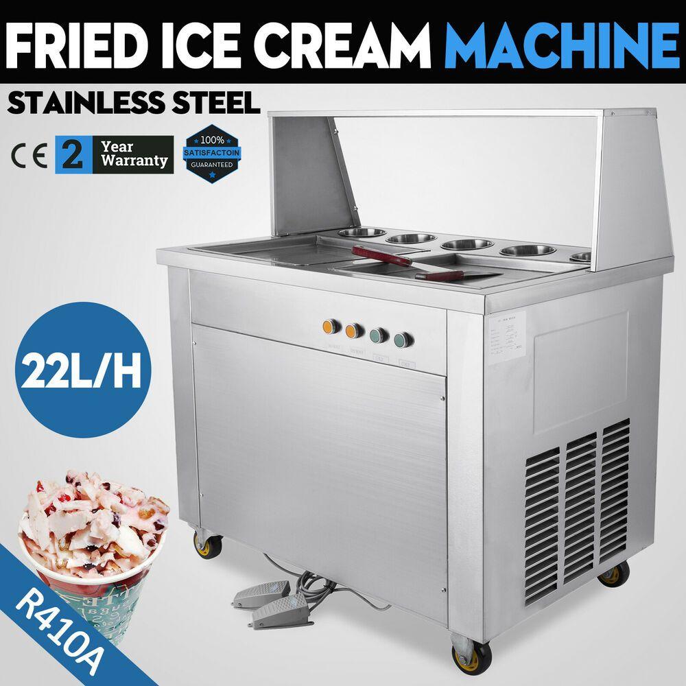 Ebay Sponsored Double Pan 22l H Fried Ice Cream Machine W Pan 5