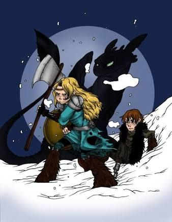 how to train your dragon 2 fan art astrid and Hiccup nude
