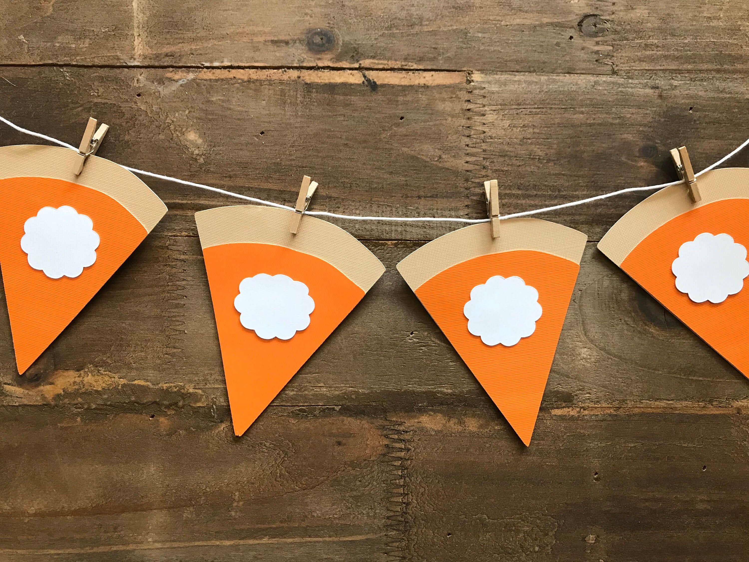 Diy Pumpkin Pie Banner Friendsgiving Sign Thanksgiving